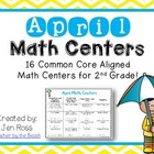 April  Math Centers Menu {Common Core Aligned}