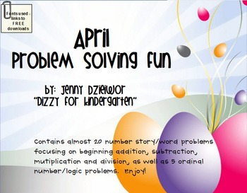 April Problem Solving Fun for the Promethean Board (ActivBoard)