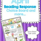 April Reading Response Choice Board