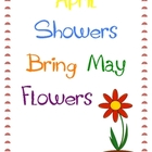April Showers Bring May Flowers-Spring and Easter Activities
