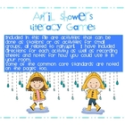 April Showers Common Core Literacy Games