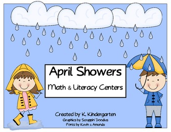 April Showers Math & Literacy Centers