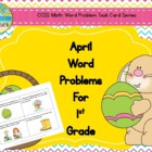 April Word Problems for 1st Grade