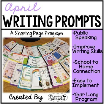 April Writing Pages for Class Share Time