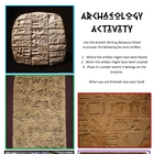 Archaeology - Ancient Writing Activity