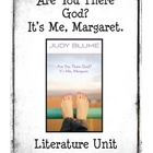 Are You There God? It's Me, Margaret by Judy Blume Literat