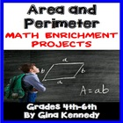 Area And Perimeter Differentiated Project Menu Activities