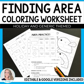 Area Coloring Worksheet