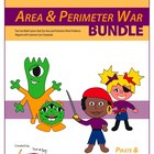 Area War and Perimeter War Bundle-Common Core Aligned with