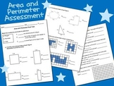Area and Perimeter Assessment w/ Answers