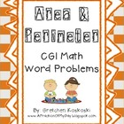 Area and Perimeter CGI Math Word Problems