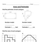 Area and Perimeter Worksheet Packet