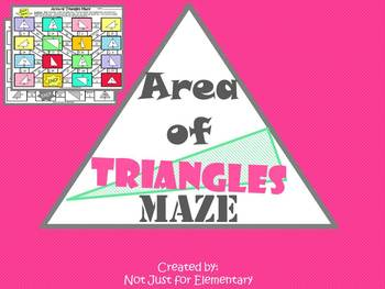 Not Just For Elementary: Areas of Triangles Maze