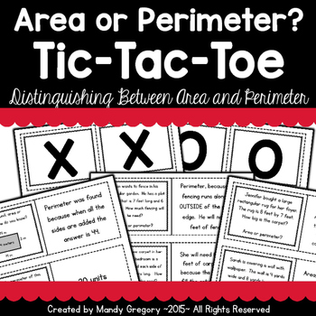 Area or Perimeter? Tic-Tac-Toe