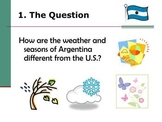 Argentina Weather & Seasons Spanish Project - Webquest