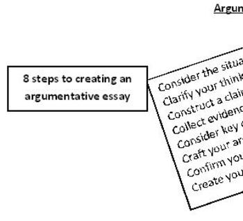 argumentative essay steps The first step of writing a perfect essay is to plan and prepare how the essay would look like planning process entails reviewing different topics to choose a good topic that.