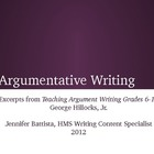 Argumentative Writing PowerPoint for Teachers