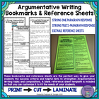 Argumentative Writing Response Bookmarks