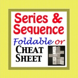 Arithmetic and Geometric Sequence, Sum, Nth Term, Cheat Sh