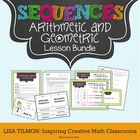 Arithmetic and Geometric Sequences Lesson Bundle