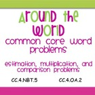 Around the World Common Core Word Problems