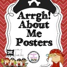 """Arrgh"" (All) About Me Pirate Posters"