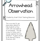 Arrowhead Artifact Observation and Analysis Sheet