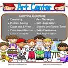 Art Learning Center Sign~ With Objectives