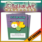 Art Lesson: Grid Drawing Draw Project Lesson Line Design
