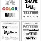 Art Posters: Elements, Principals, Color Theory