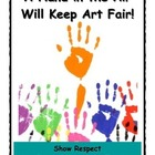 Art Room Rules Poster - Raise hands