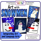 Art With Snowmen - Two Literature-Connected Torn Paper Col