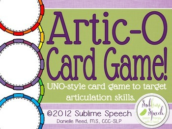 Artic Uno - /r/ and /s/ with BONUS BLANK TEMPLATE SET!