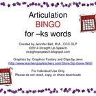 Articulation BINGO for -ks words