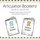 Articulation Booklets!