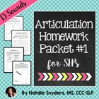 Articulation - Homework Packet for Speech-Language Therapy