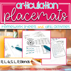 Articulation Placemats: Homework Sheets and Drill Activiti