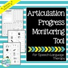 Articulation Progress Monitoring Tool for Speech Language