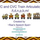 Articulation Trains! /t,d,n/