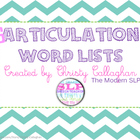 Word Lists: Articulation
