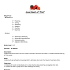 "Assortment of ""Fish"" lesson plan"