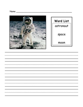 Astronaut Writing Prompt