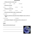 Astronomy Earth Orbit and Axis Quiz Assessment Special Edu