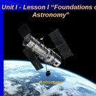 "Astronomy Unit I Lesson I PowerPoint ""Foundations of Astronomy"""