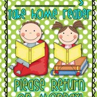 At Home Reading Packet for Take Home Readers