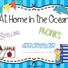 At Home in the Ocean {spelling, grammar, and phonics practice}