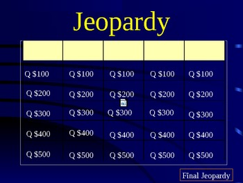 Atoms and Periodic Table Jeopardy