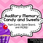 Auditory Memory Candy and Sweets!