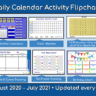 Calendars and Daily Math - Activboard (Promethean) August