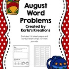August Daily Word Problems